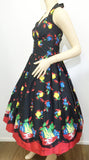 Retrospec'd Sophia Dress - Fruit Basket Print Side View