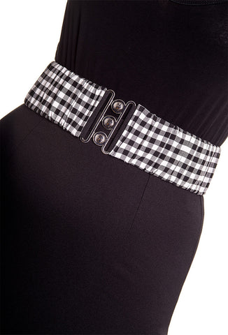 Hell Bunny Plus Size Gingham Belt
