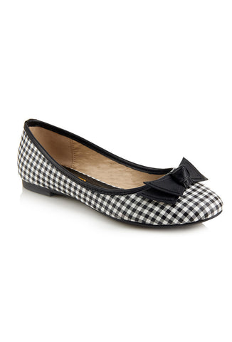 Collectif Gwen Gingham Flats Top View