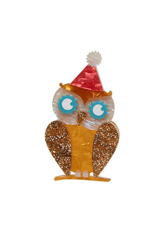 Erstwilder Having a Hoot Brooch Front
