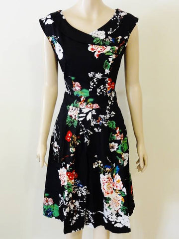 Timeless Japanese Floral Calista Dress Front