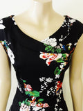 Timeless Japanese Floral Calista Dress Front Top
