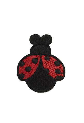 Iron On Lady Beetle Patch - Red x 2