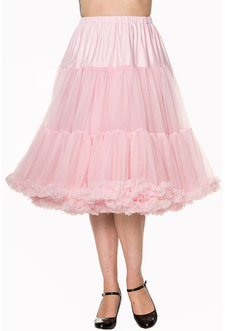 Luxuriously Soft Fluffy Baby Pink Banned Rockabilly 27 inch Petticoat