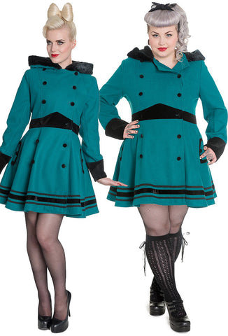 [SPECIAL ORDER] Hell Bunny Mikaela Coat - Teal