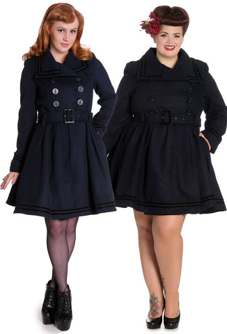 [SPECIAL ORDER] Hell Bunny Millie Coat - Navy