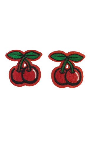 2 x Iron On Mini Cherrie Rockabilly Patches