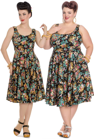 Hell Bunny Monte Carlo Dress (S-L Only)