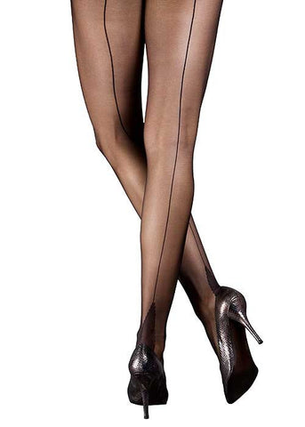 Moulin Rouge Sheer Navy Pantyhose with Back Seam