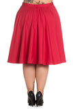 Hell Bunny Paula Skirt - Red