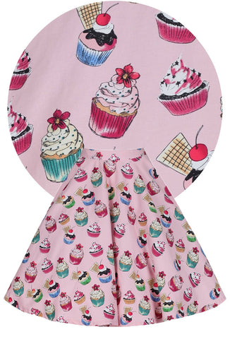 Lindy Bop Peggy Cupcake Skirt with Print