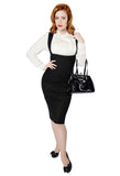 Collectif Prue Herringbone Skirt Front View