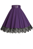 Chic Star Purple Lace Skirt
