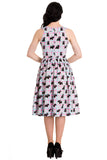 Hell Bunny Scottie Dress Back