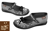 Simonette Chocolaticas Hot Chocolate Design Flat Shoes Side View