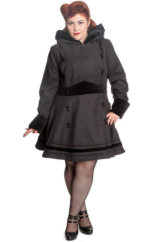 [SPECIAL ORDER] Hell Bunny Plus Size Sofia Coat - Grey