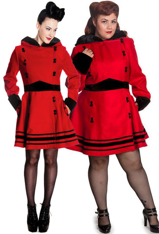[SPECIAL ORDER] Hell Bunny Sofia Coat - Red