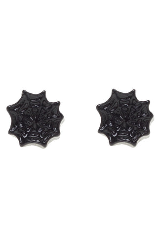Sourpuss Spiderweb Earrings