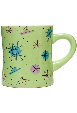 Sourpuss Sputnik Diner Mug - Green