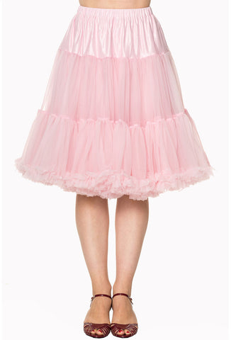 "Banned Starlite 23"" Petticoat - Baby Pink"