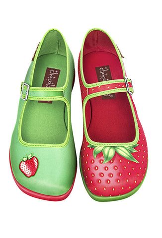 Hot Chocolate Design Shoes Strawberry Mary Jane Flats Front View