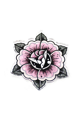 Creep Heart 'Tattoo Rose' Mini Pin