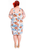 Hell Bunny Tiki Sarong Dress Back Plus Size Model