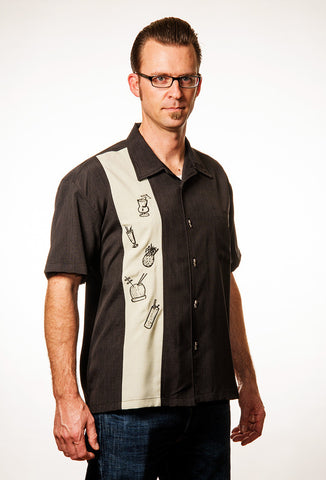 Steady Men's Tiki Drinks Shirt on Model