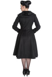 Hell Bunny Vivien Coat Black - Rear