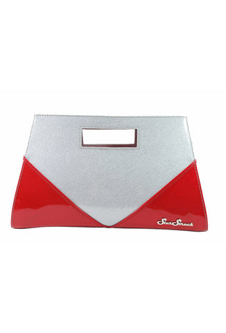 Red/Silver Vixen Clutch by Star Struck Front View