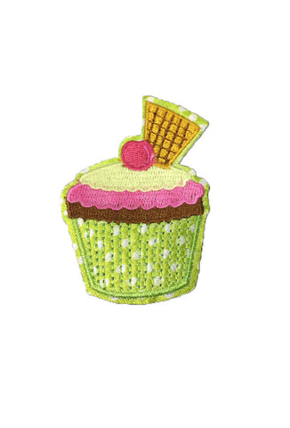 Iron on Wafer Cupcake Patch