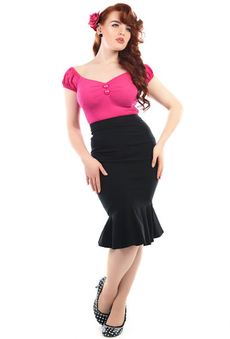 Collectif Winifred Skirt - Black on Model
