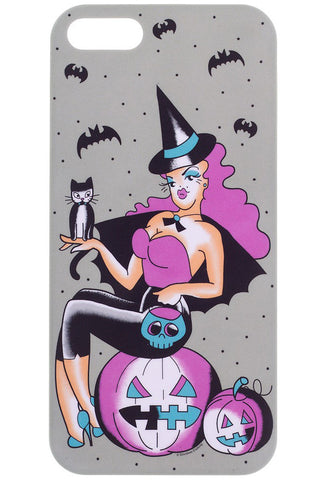 Sourpuss Witchy Gal iPhone Case Halloween Cat Gothic Kitsch Hard Cover