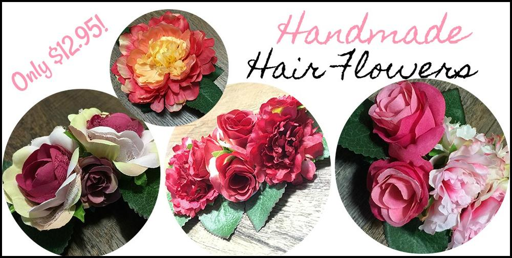 Rockabilly Vintage Inpired PinUp Hair Flowers