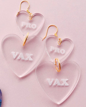 DAY 3 - PRO VAX Stacked Corazon Hearts