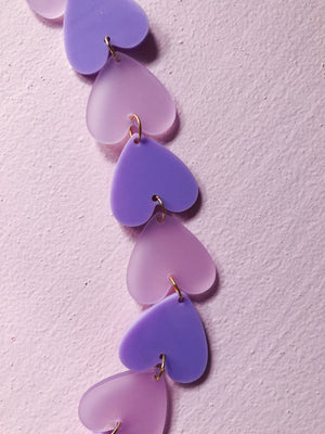 Lilac Hearts Mask Chain