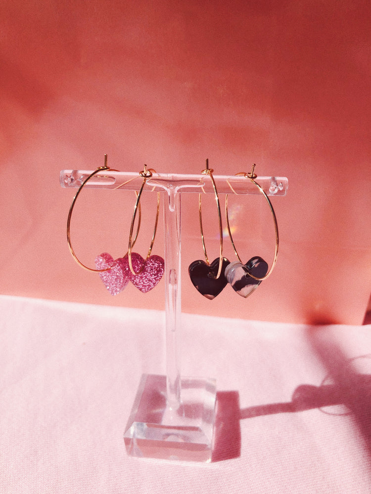 Limited Mini Corazon Hoops