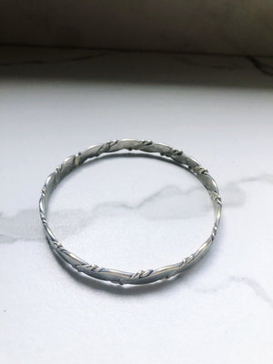 "Vintage Sterling Silver Alpaca Solid and Braided 8"" Bracelets"