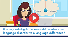 How do you distinguish between a child who has a true language disorder vs a language difference