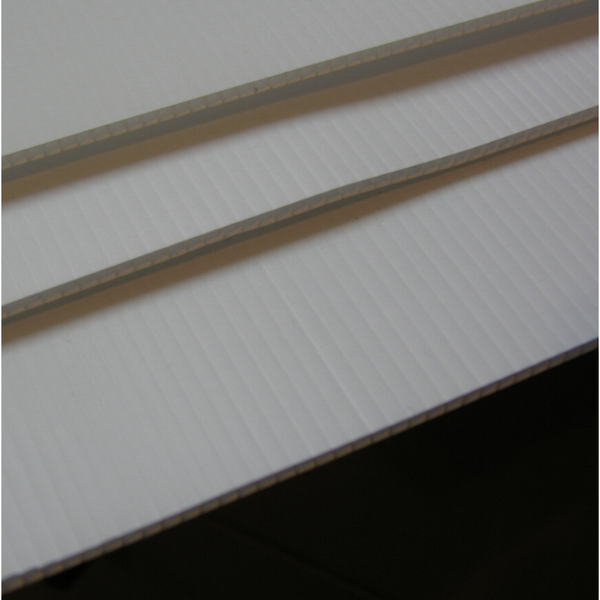 Fluted Polypropylene White 3.3mm