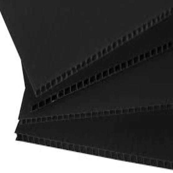 Fluted Polypropylene Black 3.3mm