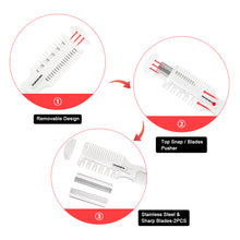 Load image into Gallery viewer, Hair Cutter Comb,Shaper Hair Razor With Comb,Split Ends Hair Trimmer Styler,Double Edge Razor Blades For Thin & Thick Hair Cutting and Styling
