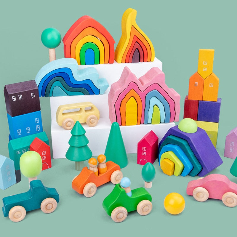 DIY Montessori Assembled Building Blocks (Wooden)