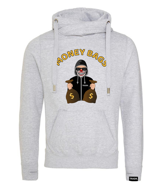 'Money Bags' Mens Tradr. Cross Neck Hoody - Limited Edition