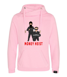 'Money Heist' Mens Tradr. Cross Neck Hoody - Limited Edition