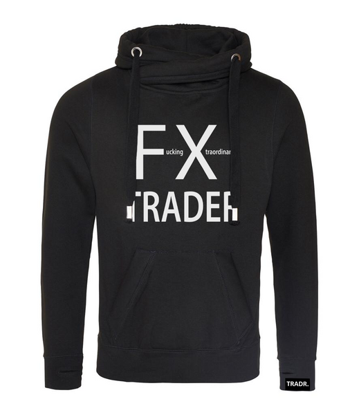 'FX Trader' Mens Tradr. Cross Neck Hoody - Limited Edition