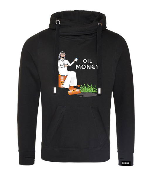 'Oil Money' Mens Tradr. Cross Neck Hoody - Limited Edition