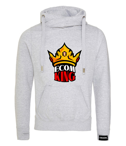 E-Com King - E-commerce Mens Tradr. Cross Neck Hoody - Limited Edition