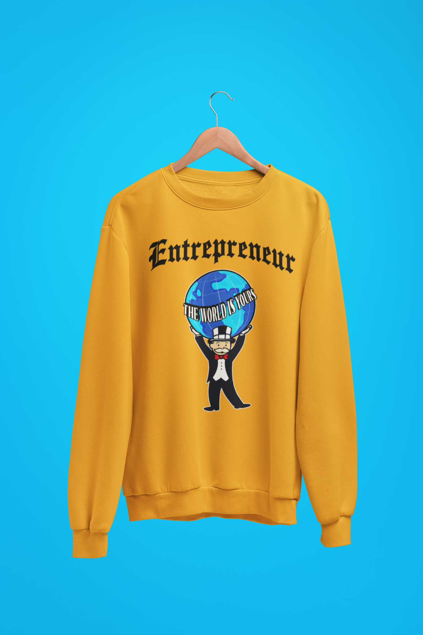 'Entrepreneur - The World Is Yours' Mens Tradr. Sweatshirt