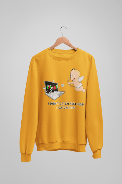 'I Don't Catch Feelings I Catch Pips' Mens Tradr. Sweatshirt - Sweatshirts - TRADR. Clothing
